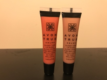 Avon True Color Glossy Tube Lip Gloss in Dreamy Peach and Natural Nude