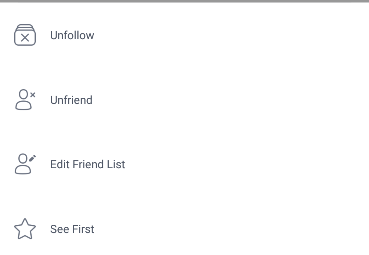 Facebook Mobile Lists