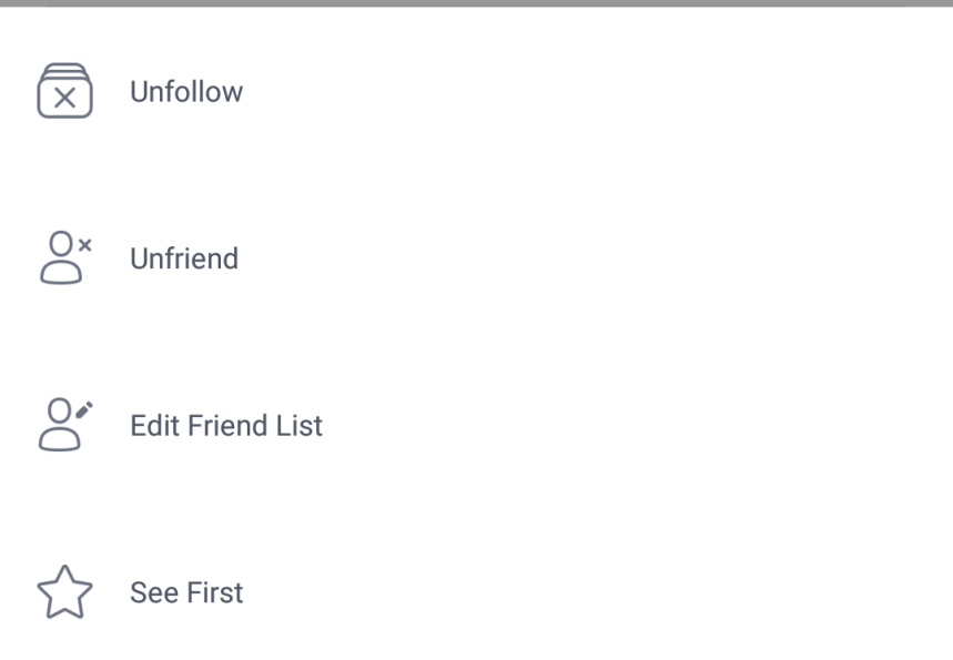 Facebook Mobile Lists
